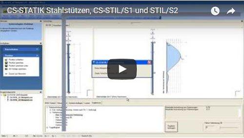 CS-STATIK Stahlstützen, CS-STIL/S1 und STIL/S2
