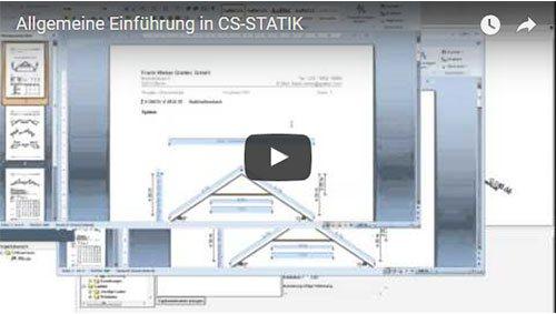 Allgemeine Einführung in CS-STATIK (ca. 50 min)
