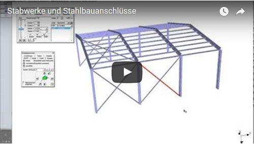 Stabwerke und Stahlbauanschlüsse (ca. 50 min)