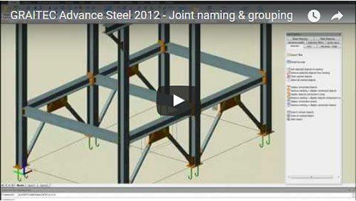 Advance Steel 2012 - Benennung & Gruppierung von Anschlüssen
