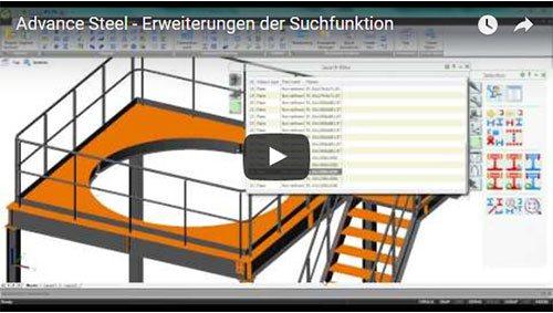 NEU - Advance Steel 2014 - Erweiterungen der Suchfunktion