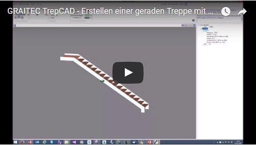 Erstellen einer geraden Treppe mit Austrittspodest (TREPCAD 2016)