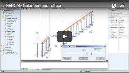 TREPCAD Geländerkonstruktion