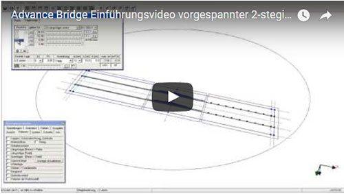 Advance Bridge Einführungsvideo vorgespannter 2-stegiger Plattenbalken (Systemeingabe Teil 2, Bemessung und Nachweise)