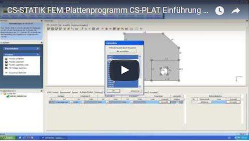 FEM Plattenprogramm CS-PLAT Einführung Teil 01