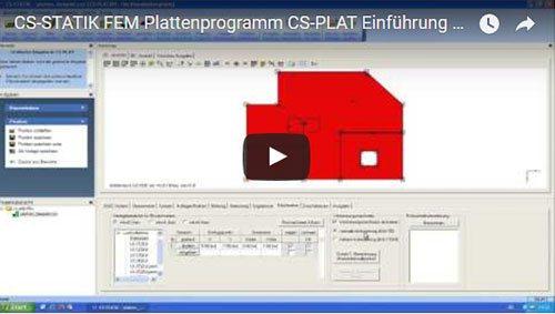 FEM Plattenprogramm CS-PLAT Einführung Teil 02